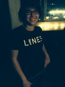 The happy owner of a new LIINES tshirt!