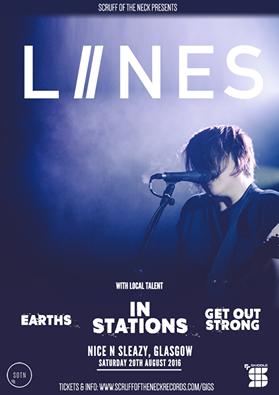 LIINES play Nice n Sleazy, Glasgow, 20 Aug 2016